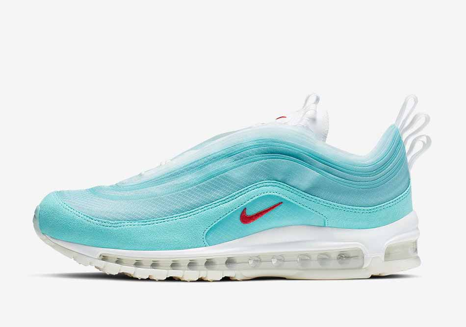 Nike Air Max 97 On Air Cash Ru Shanghai Kaleidoscope Homme et Femme