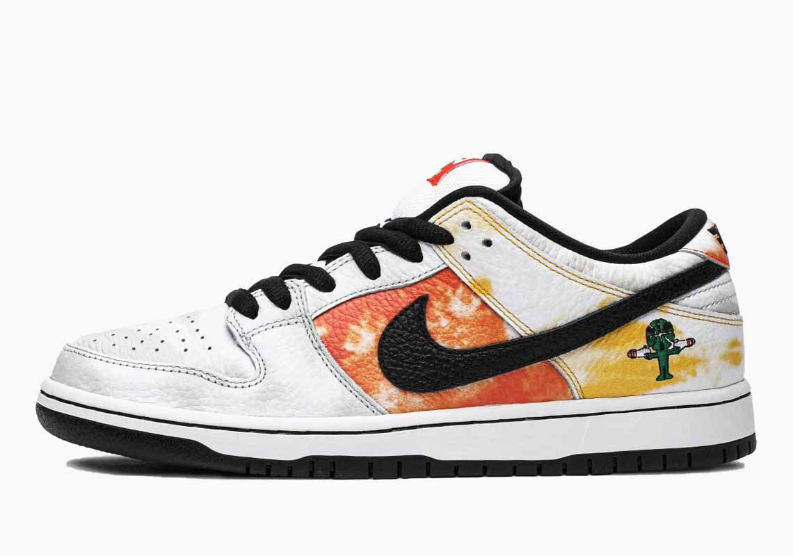 Nike SB Dunk Low Pro QS Raygun White Tie-Dye Homme et Femme